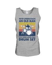 drum set oldman vintage Unisex Tank tile