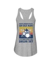 drum set oldman vintage Ladies Flowy Tank tile