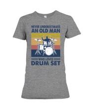 drum set oldman vintage Premium Fit Ladies Tee tile