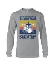 drum set oldman vintage Long Sleeve Tee tile