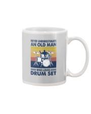 drum set oldman vintage Mug tile