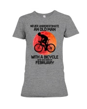 cycling never 02 Premium Fit Ladies Tee tile