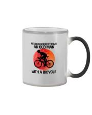 07 hat cycling old man  Color Changing Mug tile