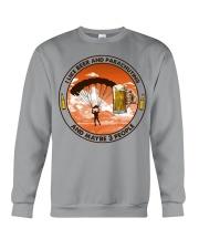 i like beer parachuting Crewneck Sweatshirt tile