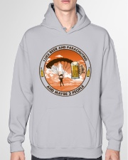 i like beer parachuting Hooded Sweatshirt garment-hooded-sweatshirt-front-04