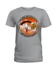 i like beer parachuting Ladies T-Shirt tile