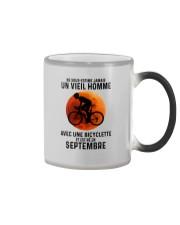 09 Cycling Old Man France Color Changing Mug tile