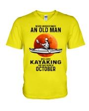 never-old-men-kayaking-10 V-Neck T-Shirt tile