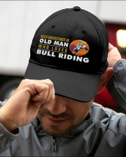 Hat Bull Riding Old man Embroidered Hat garment-embroidery-hat-lifestyle-01