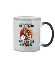 11 cycling never old man Color Changing Mug tile