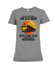 11 dump truck old man color Premium Fit Ladies Tee tile