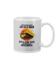 11 dump truck old man color Mug tile