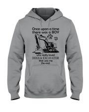 Excavator once upon Hooded Sweatshirt front