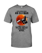 04 tatoo artist never old man Premium Fit Mens Tee tile