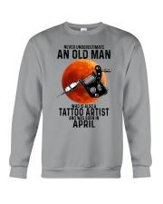 04 tatoo artist never old man Crewneck Sweatshirt tile