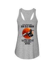 04 tatoo artist never old man Ladies Flowy Tank tile