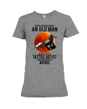 04 tatoo artist never old man Premium Fit Ladies Tee tile