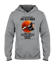 04 tatoo artist never old man Hooded Sweatshirt tile