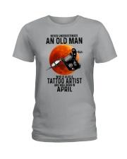 04 tatoo artist never old man Ladies T-Shirt tile