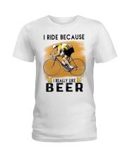 Cycling I Ride Ladies T-Shirt tile