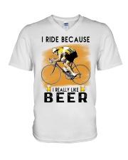 Cycling I Ride V-Neck T-Shirt tile