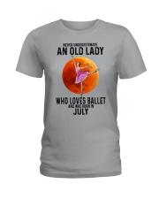 07 ballet old lady Ladies T-Shirt tile