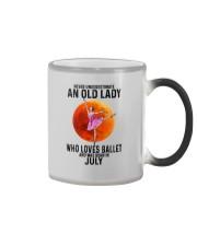 07 ballet old lady Color Changing Mug tile