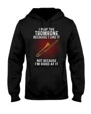 i play trombone Hooded Sweatshirt tile