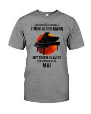 05 piano old man german Premium Fit Mens Tee tile