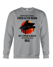05 piano old man german Crewneck Sweatshirt tile