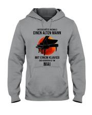 05 piano old man german Hooded Sweatshirt tile