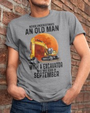 09 excavator old man color Classic T-Shirt apparel-classic-tshirt-lifestyle-26