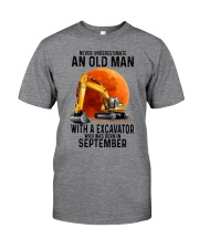09 excavator old man color Classic T-Shirt front