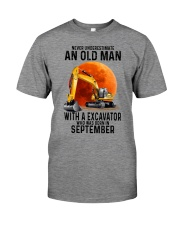 09 excavator old man color Premium Fit Mens Tee tile