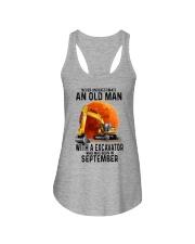 09 excavator old man color Ladies Flowy Tank tile