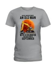 09 excavator old man color Ladies T-Shirt tile