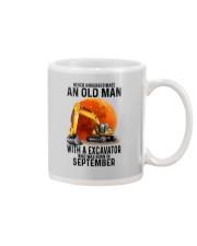 09 excavator old man color Mug tile