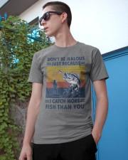 DON'T BE JEALOUS FISHING Classic T-Shirt apparel-classic-tshirt-lifestyle-17