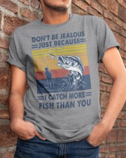 DON'T BE JEALOUS FISHING Classic T-Shirt apparel-classic-tshirt-lifestyle-26