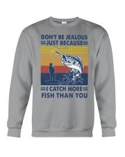 DON'T BE JEALOUS FISHING Crewneck Sweatshirt tile