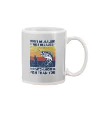 DON'T BE JEALOUS FISHING Mug tile