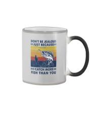 DON'T BE JEALOUS FISHING Color Changing Mug tile