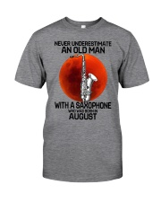 saxophone old man 08 Classic T-Shirt front