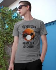 11 drum set never old man Classic T-Shirt apparel-classic-tshirt-lifestyle-17