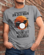 11 drum set never old man Classic T-Shirt apparel-classic-tshirt-lifestyle-26