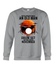 11 drum set never old man Crewneck Sweatshirt tile