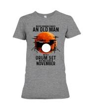 11 drum set never old man Premium Fit Ladies Tee tile