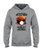 11 drum set never old man Hooded Sweatshirt tile