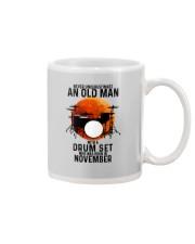 11 drum set never old man Mug tile
