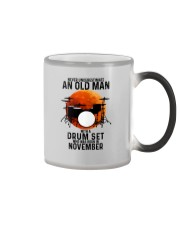 11 drum set never old man Color Changing Mug tile